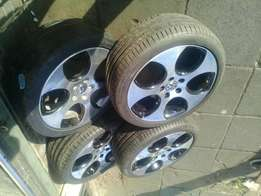 A set of vw golf 5 and 6 mags and tyres 225/40/18