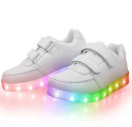 Buty świecące LED Megastar Białe obuwie podświetlane