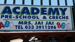Academy pre school, creche and Aftercare