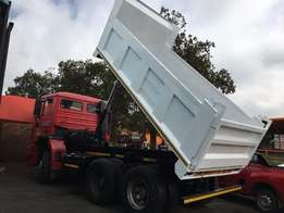 We manufacture all sizes of tipper bins and install fit them on trucks