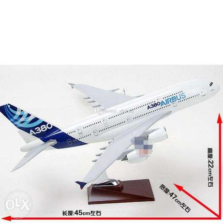 airbus A380 resin material aircraft model scale 47cm
