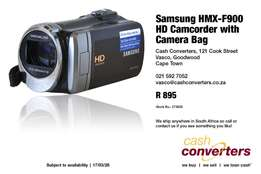 Samsung HMX-F900 HD Camcorder with Camera Bag