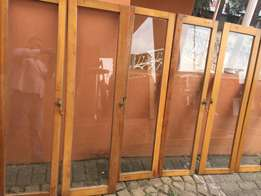 Cupboard doors glass is broken