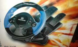 PS2 steering wheel with gears and pedals 200