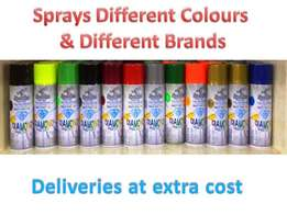 Assorted Sprays paints for sale READ INFO