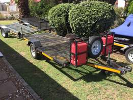 2012 Double Quads Flatbed Trailer.!!