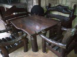 Rhodesian Wood table and chairs