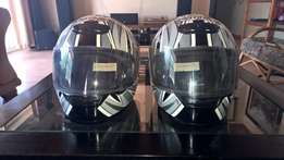 Two THH motorbike helmets for sale