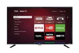new brand 43 inch tcl smart tv with youtube,google,facebook cbd shop