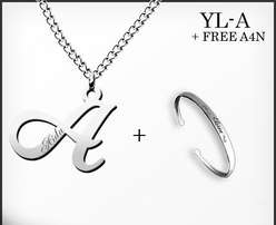 Beautiful inital pendant and necklace set ideal for Valentine or not