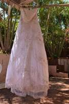 Wedding dress with veil