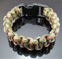 army colored mens bracelet for camping and outdoors