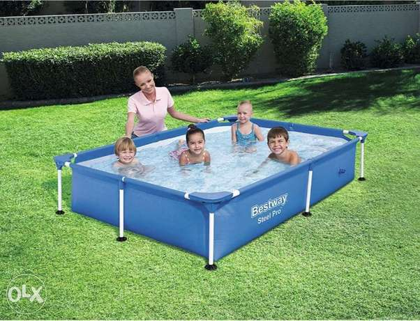 Bestway Steel Pro Power Pro Frame Pool 2.21m x 1.50m x 43cm - blue