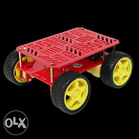 4WD Complete Mini Plastic Robot Chassis Kit – With 4 Advanced 90 Degre