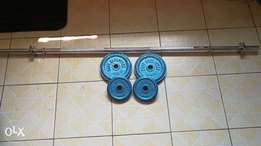 barbells pair of 2 and 4 kgs