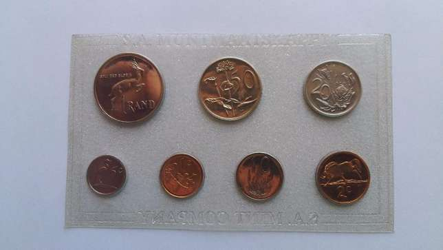 3 x Proof coin sets as from SA Mint : 1989, 1986, 1985 Cape Town - image 1