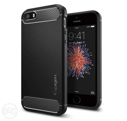 Spigen Rugged Armor Cover for iPhone SE (2016), iPhone 5S, iPhone 5