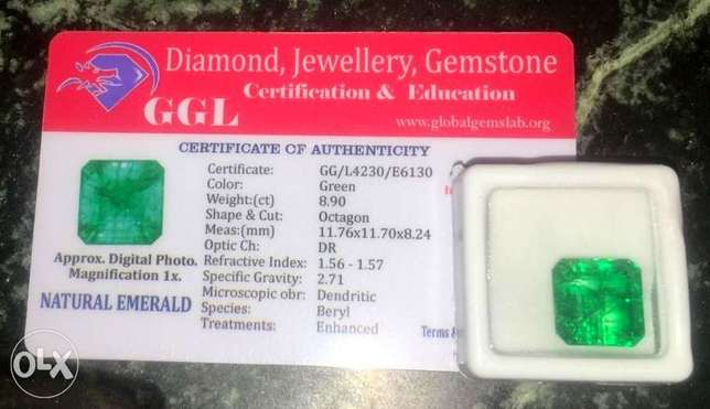 Real Natural Certified Colombian Emeralds for sale