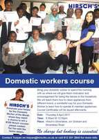 Domestic Workers Course - 6th April 2017 Hirsch's Silver Lakes
