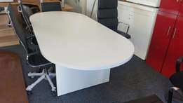 8 Brand New Oval White Boardroom Tables Available, CapeOffice2nds!!
