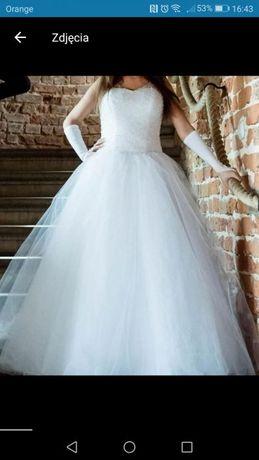 Suknia ślubna Księżniczka Princessa Kolekcja 2017 śnieżna Biel