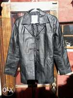 Black Genuine Leather Jacket, virtually brand new. Size M, Ladies