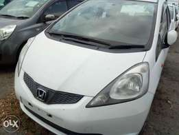 Sparkling white Honda Fit