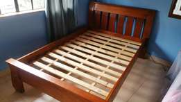 Almost New Hardwood bed for SALE with 6x 4 Mattress