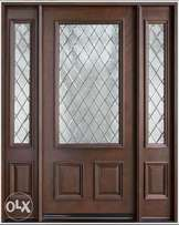 mahogany security door.