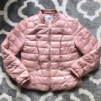 9d5623e217918 Kurtka pikowana Bonprix różowa elegancka jesień wiosna L NOWA