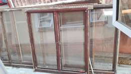 Maranti windows with glass