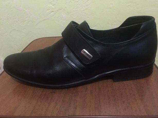cb312ed1e Кожаные туфли для мальчика 37 размер, производство Украина. Киев -  изображение 1