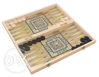 Brand New Wooden Folding Backgammon Board