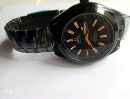 Black Omega Men Wristwatch