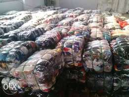 Bales of clothes