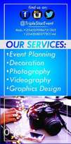 Videography, Photography, Decoration and Graphics Designs all events.