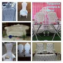 His and Hers Chairs King and Queen chairs available for hire