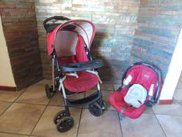 Graco baby pram and baby car seat combo