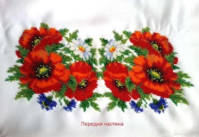 Жіноча женская вишиванка сорочка вишивка вишита бісером Маки і Ромашки  Івано-Франківськ - зображення 2 f82f7c80b9789