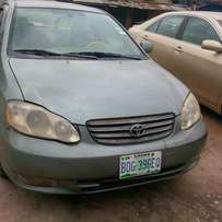 Fairly used toyota coroll 03 with full option