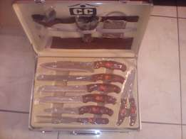 cc 25 piece knife set with aluminium case for sale R700