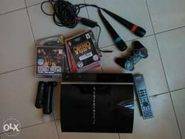 PS3 Original with Karaoke, Move, PsEye, Remote and Games