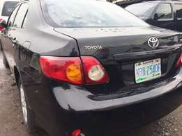 Neatly used 2008 Toyota corolla with good usage history