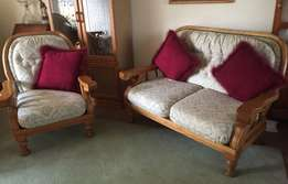 Lounge Suite - oak 6 seater