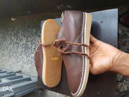 Leather brown shoe 42size