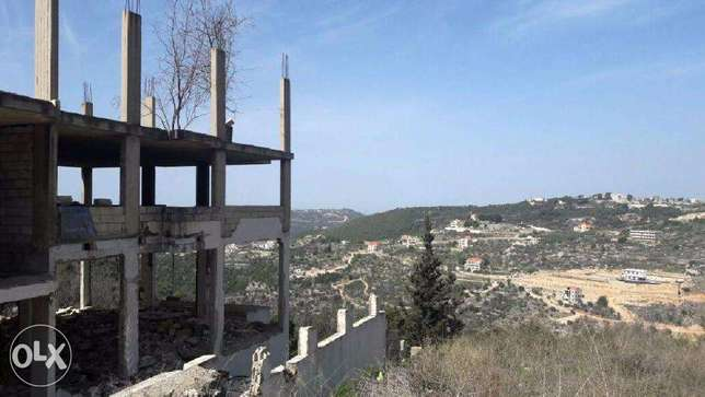 1080 m2 land for sale in Obaydat Amchit (mountain view)