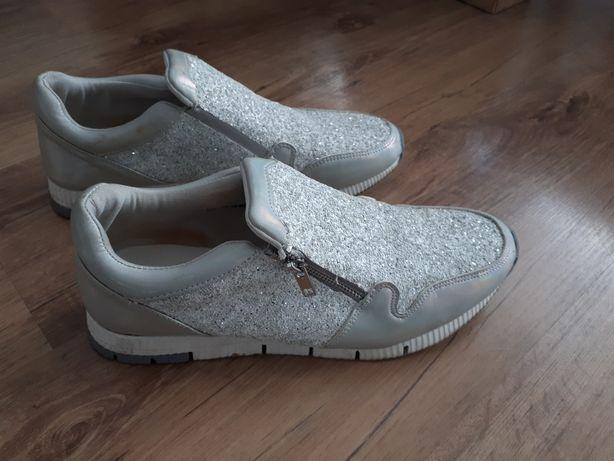 fdb76a4736c2a Buty damskie adidasy srebrne. - Lublin - Sprzedam buty w dobrym stanie.  Nałożone kilka