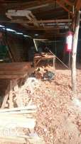 Plot 50* 100 with timber yard worth 70000 a day