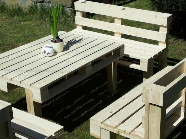 Meble Ogrodowe Z Paletkomplet Wypoczynkowystół ławki