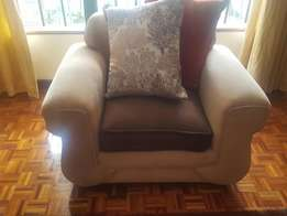 Very cozy and comfy 5-seater with pure fibre cushions for sale